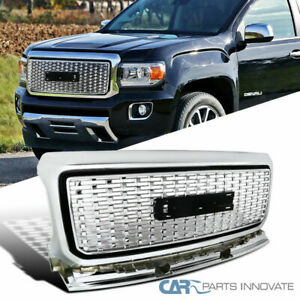 For 15 18 Gmc Canyon Pickup Front Chrome Abs Hood Grill Grille Guard Replacement