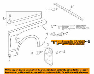 For Tacoma Trd 4x4 Off road Bedside Decal Silver gray 75996 0c080 a3 Genuine