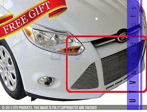 Gtg 2012 2014 Ford Focus 3pc Polished Replacement Billet Grille Grill Kit