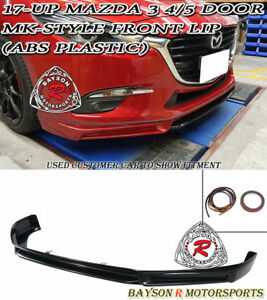 Mk Style Front Lip Abs Plastic Fits 17 18 Mazda 3 4 5dr