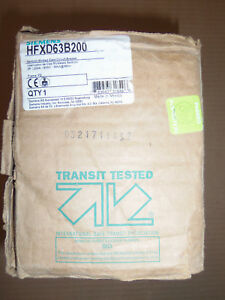 New In Box Siemens Hfxd 3 Pole 200 Amp 600v Hfxd63b200 Circuit Breaker No Lugs