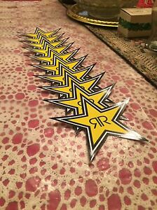 10 Authentic Rockstar Energy Drink Stickers Decal Sign Stars Bmx Motocross