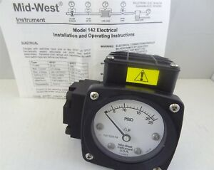 Mid west 142 aa 00 o aa 25p Differential Pressure Gauge