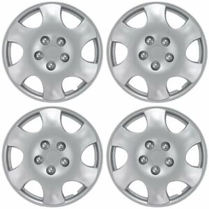 Set Of 4 15 Inch Snap On Silver Hub Caps For Nissan Altima