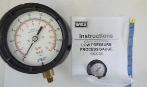 Wika 4217080 Capsule Low Pressure Gauge 4 1 2 Dial 1 4 Male Npt Connection