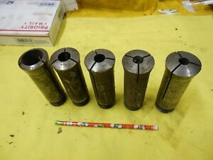 5 Pc Lot Of Sutton Hardinge Usa H8 Collets Lathe Mill Machine Work Holder Tool