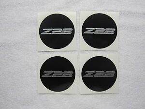 1996 2002 Camaro Z28 Zr1 Wheel Center Cap Decals Black W Silver Letters
