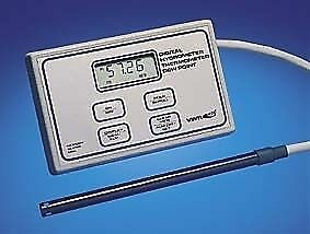 Vwr Digital Hygrometer thermometer With Probe 4085 Labware