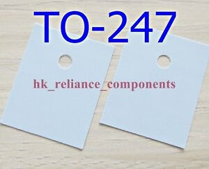 1000 Pcs Heat Sink Pad To 247 20x25mm Transistor Insulator Silicone Rubber Sheet