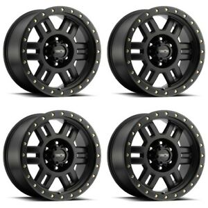 Set 4 18 Vision 398 Manx Black Wheels 18x9 6x135 18mm Ford F150 Lincoln 6 Lug