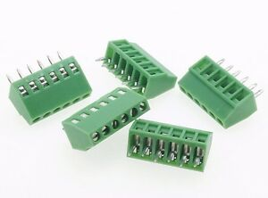 100 Terminal Blocks 2 54mm 0 1 6p Pcb Connectors Screw Type