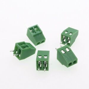 100 Terminal Blocks 2 54mm 0 1 2p Pcb Connectors Screw Type