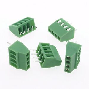 100 Terminal Blocks 2 54mm 0 1 4p Pcb Connectors Screw Type