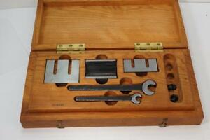Swiss Made Machinists Toolmakers V block C w Cherry Wood Boxed Set
