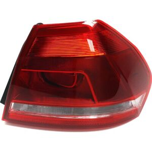 Halogen Tail Light For 2012 2015 Volkswagen Passat Right Outer Clear Red W Bulbs