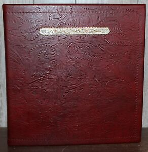 Fancy Rubies Concho Oxblood Maroon Western Leather 1 1 2 3 Ring Binder