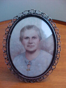 Vintage Tabletop Frame Sterling Silver Has Unusual Type Of Photograph