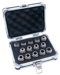 Pro series 14 Piece High Accuracy 3 32 1 2 Er 20 Spring Collet Set 3901 5334