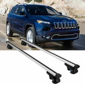 Aluminum Car Roof Rack Cross Bars Luggage Carrier For Jeep Cherokee 2014 2018