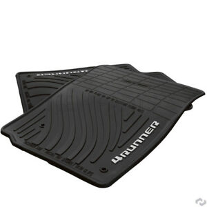 For Toyota 4runner 10 12 Front Rear All Weather Floor Mats Rubber Black Oes
