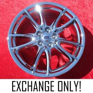 Exchange Set Of 4 Chrome 19 Ford Mustang Oem Factory Wheels Rims 3862