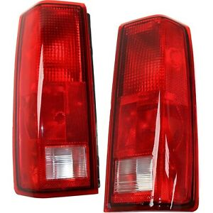 Set Of 2 Tail Light For 85 2005 Chevrolet Astro Lh Rh Clear Red Lens
