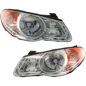 For 2007 2010 Elantra Headlights Headlamps Replacement 07 08 09 10 Left right