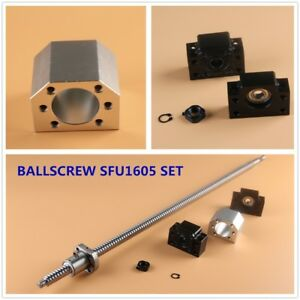 Cnc Ball Screw Set Sfu1605 With Nut L250 1550mm Bk bf12 Support Nut Housing