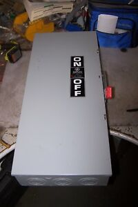New Ge 200 Amp Non fused Safety Switch 600 Vac 150 Hp 3 Phase Thn3364