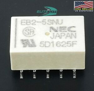 Nec Tokin Low Signal Relays 5v Latching Relay 2 Form C dpdt Eb2 5sn Qty 2