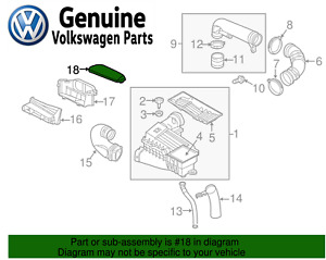 For Vw Passat Jetta Beetle Air Cleaner Intake Inlet Duct Tube Hose Cover Genuine