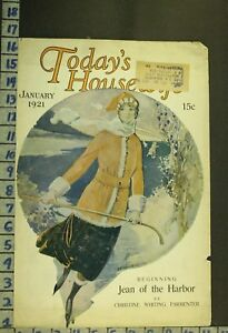 1921 SPORT WOMEN ICE HOCKEY SKATE FASHION SWEETHEART ILLUS WALTON COVER RG40