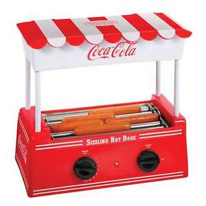 Nostalgia Hdr565coke Coca cola Hot Dog Roller With Bun Warmer
