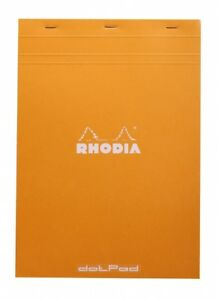 Rhodia Dot Pad Orange Matrice Points 5mm 80 Sheets 8 25 X 11 75 R18558