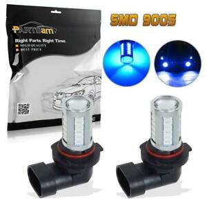 2pcs 9005 Hb3 High Power 33 5730 Smd Blue Led Projector Fog Driving Light Lamps