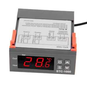Digital Stc 1000 Fish Tank Temperature Controller Thermostat With Sensor