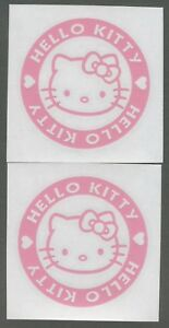 2x Hello Kitty 4 Pink Decals For Vans Cars Windows Computers Or Wherever 1