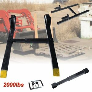 43 Hd Clamp On Pallet Forks 2000 Lb Loader Bucket Tractor Adjustable Stabilizer