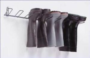 Boot Rack Wall Mount Pvc Coated 1 Rack Holds 4 Pairs