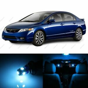 8 X Ice Blue Led Lights Interior Package For Honda Civic 2006 2012 Pry Tool