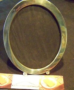 Antique Large Fancy Ball Footed Oval Sterling 7 5 8 X 53 4 Picture Photo Frame