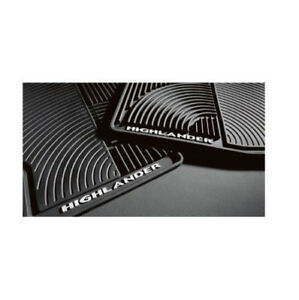For Toyota Highlander Hybrid 08 13 4pc All Weather Black Rubber Floor Mats Oes
