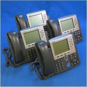 Lot Of 4 Cisco 7961 Voip Poe Phones Cp 7961g Cp 7961 ge