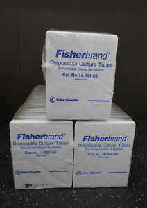 Fisherbrand 14 961 29 Disposable Borosilicate 15ml Glass Tube 16 X 100mm 750 to
