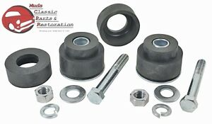 Gm Chevy A Body Radiator Core Support Bushing Hardware Kit Set Rubber Mounts 70