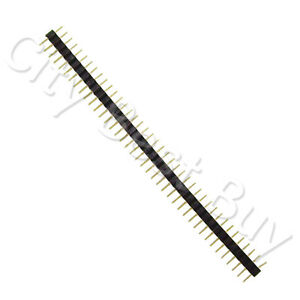 100 Male Black 40 Round Pins Pcb Single Row 2 54mm Pitch Spacing Header Strip