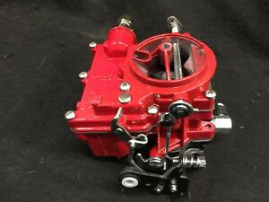 Vintage Speed Rochester 2g Primary Carb In Baron Red Tri Power Hot Rod