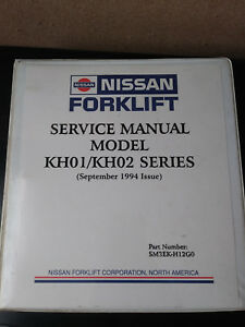 Nissan Forklift Service Manual Kh01 Kh02 Series 1994 Issue