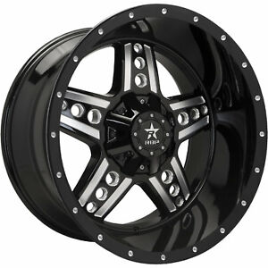 20x10 Black Machined Rbp 90r 5x5 5 25 Rims Country Hunter Mt Tires