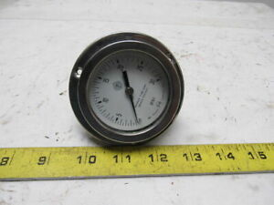 Mc Daniel Control 0 30 Psi Pneumatic Pressure Gauge Back Port Panel Mount 3 1 2